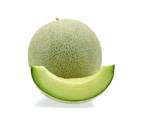 cantaloupe melon isolated on white background Imagens