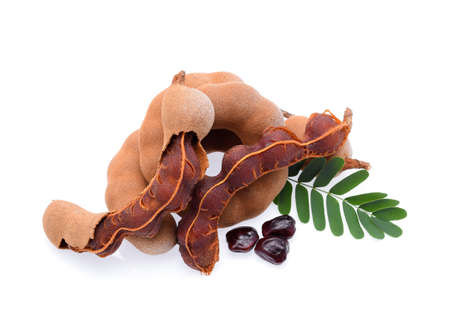 Sweet tamarind isolated on white background