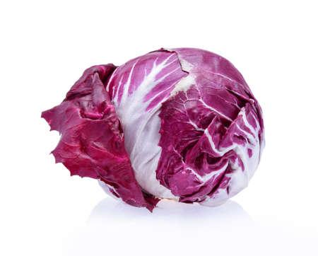 Radicchio, red salad isolated on white background Archivio Fotografico
