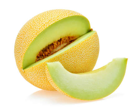 cantaloupe melon isolated on white Stock fotó