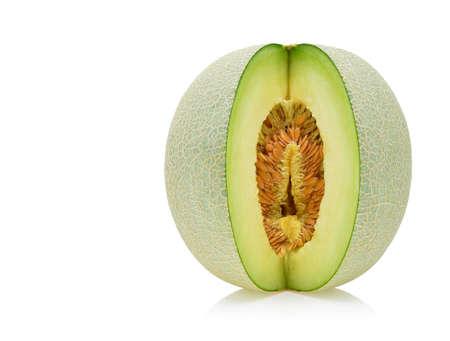 cantaloupe melon isolated on white Imagens