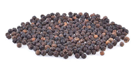 Black pepper isolated on white background 免版税图像