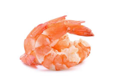 prawn shrimps isolated on white background.