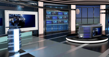 Virtual Set Tv News 27 virtual sets that are required for any modern show for TV channels. Detailed drawings and plans modeled virtual studio set in the Real-World Scala This background is ideal for use in a news program.