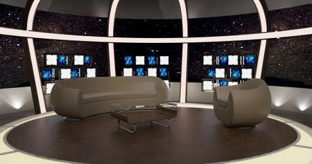 Virtual TV Chat Set of 20 virtual sets that are required for any modern show for TV channels. Detailed drawings and plans modeled virtual studio set in the Real-World Scala This background is ideal for use in a chat program.