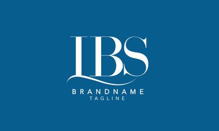 Alphabet letters Initials Monogram logo LBS, LB, BS