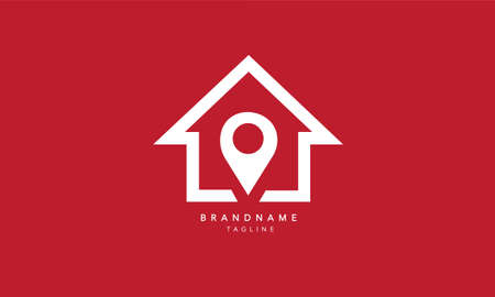 Real Estate logo template, House Location Vector