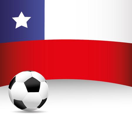 bandera de chile: Bandera de Chile para el partido de f�tbol Vectores