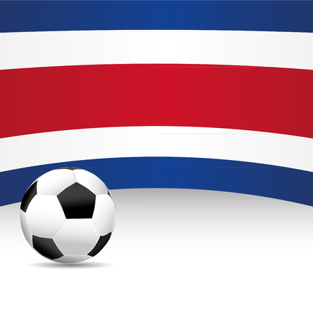 costa rica: Costa Rica Flag for Football Match