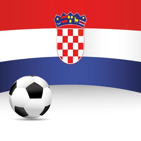 football match: Bandiera Croazia per Partita di calcio Vettoriali