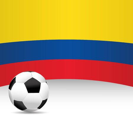 football match: Colombia Flag per Partita di calcio