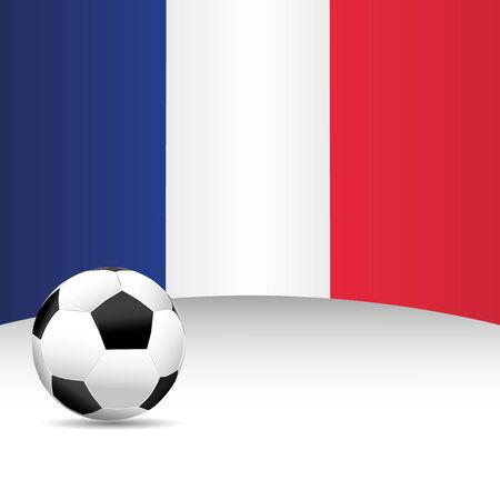 football match: Bandiera Francia per Partita di calcio