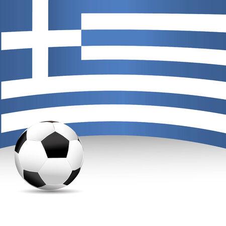 football match: Grecia Flag per Partita di calcio