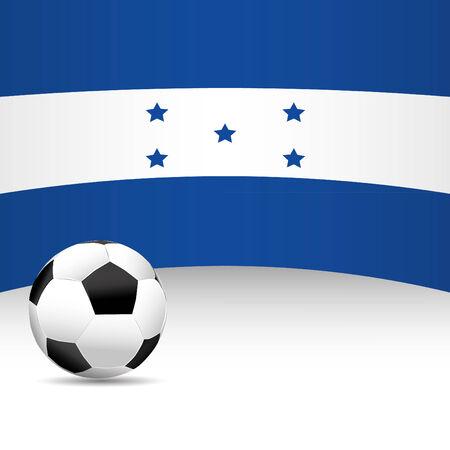 football match: Hondurus Flag per Partita di calcio Vettoriali