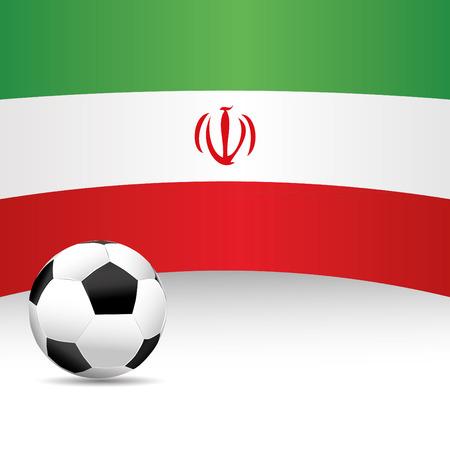 football match: Iran Flag per Partita di calcio