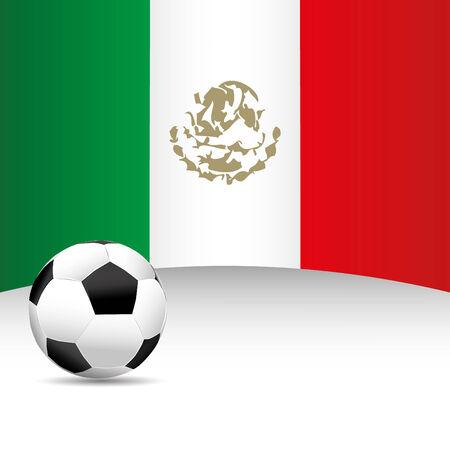 bandera mexico: Bandera de M�xico para el partido de f�tbol Vectores