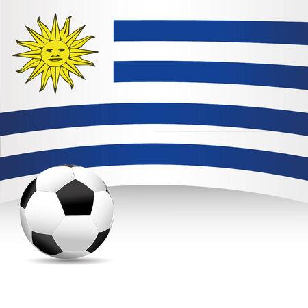 football match: Uruguay Flag per partita di calcio