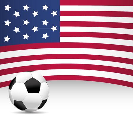 football match: USA Flag per partita di calcio