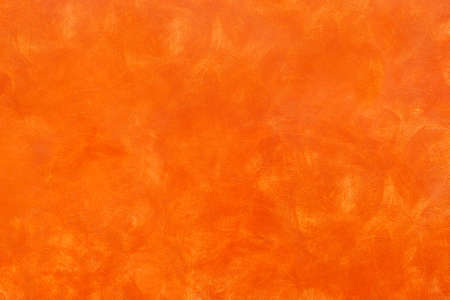 Orange rustic background - Golden bronze sponged paint wall - Autumnal color panel