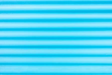 Blue corrugate metal background horizontal lines -Acuamarine undulate backdrop - Image
