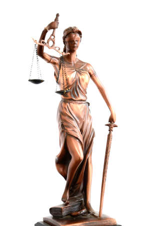 criminal case: A statue of Themis, one of the ancient Greek goddes Stock Photo