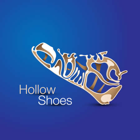 hollow shoes Vector illustration. Illustration