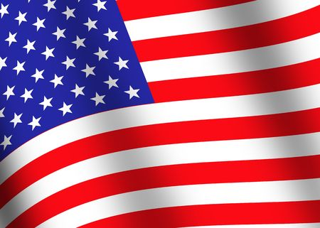 usa flag closeup Stock Photo - 1312299