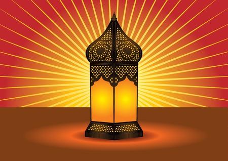 lampada: Lampada da terra islamica intricato  Vettoriali