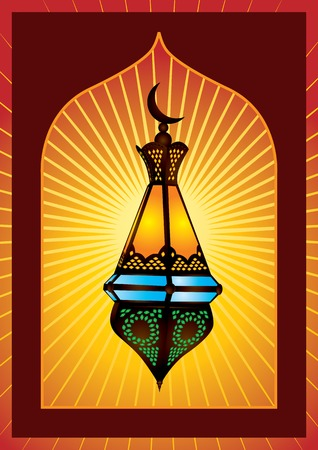 colorful lantern: Colorful intricate arabic lantern for eid or ramadan celebration