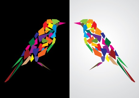 Colorful abstract artistic bird  illustration