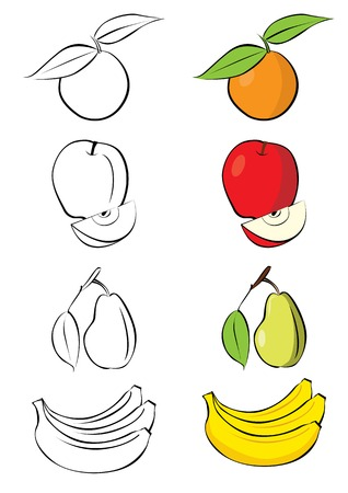 illustration of different fruits Stock Vector - 7920689