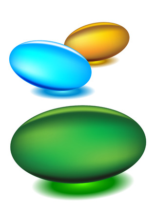 blue pills: Gel medicine capsules - illustrations Illustration