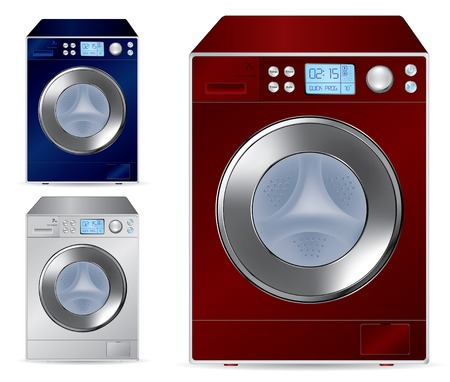 Fully automatic front loading washing machine  Vector