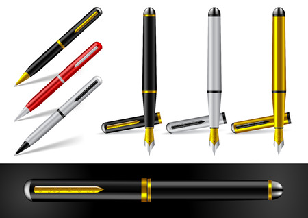 Fountain Pen and Ball Point Pen Vector