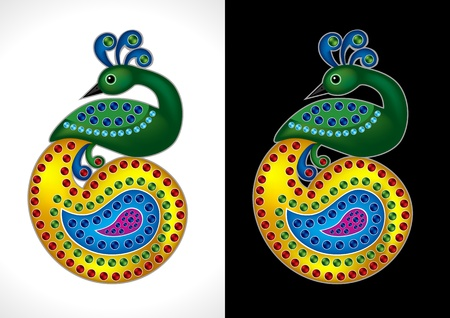 Beautiful and Colorful Peacock Vector Illustration Vector