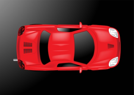 costly: Car Top View - Vector Illustration