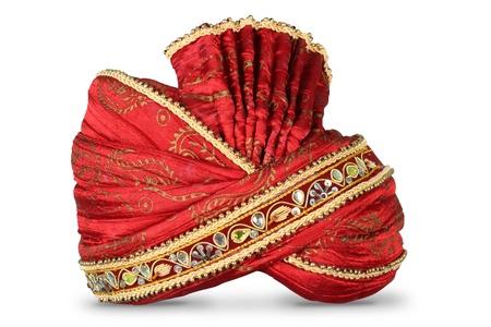 pokrývka hlavy: Indická Pokrývky hlavy používány v manželství Reklamní fotografie
