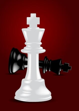 Chess White King - Winner  Иллюстрация