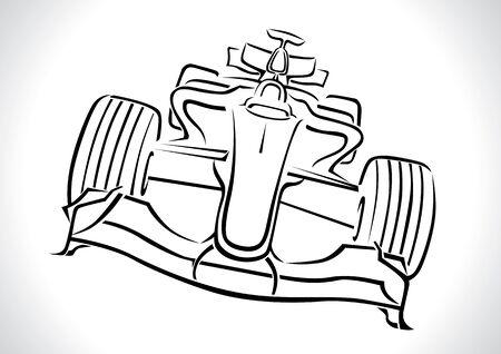 Formula 1 Racing Car Vector Illustration Stock Vector - 12193633