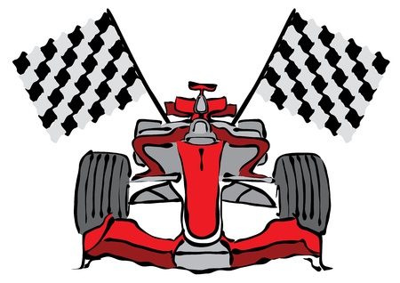 formula one racing: Formula 1 Racing Car Vector Illustration Illustration