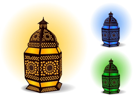 colorful lantern: Islamic lamp for Ramadan  Eid Celebrations Illustration