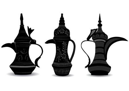 Cafetera árabe - Dallah Ilustración de vector