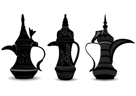 arabe: Pot Caf� Arabe - Dallah Illustration