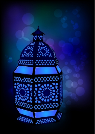 islamic art: Islamic lamp for Ramadan  Eid Celebrations - Vector Illustration Illustration