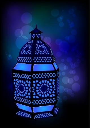 ramzan: L�mpara isl�mico del Ramad�n  Eid Celebraciones - Ilustraci�n vectorial