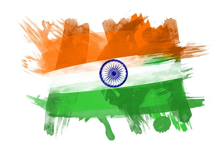 India Flag in Black Background photo
