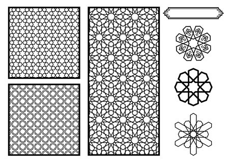 islamic art: Traditional Middle Eastern  Islamic Patterns - Vector