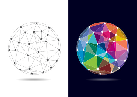 networking: Abstract Connected Globe - Vector Illustration
