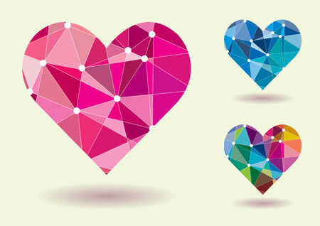 ocassion: Abstract Heart Shape Colorful Vector Illustration Illustration