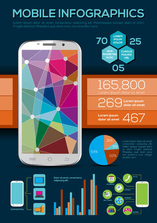 Mobile Infographic - Vector Illustration Vector